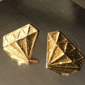 Gold crystal cut diamond Marilyn Betsey Johnson